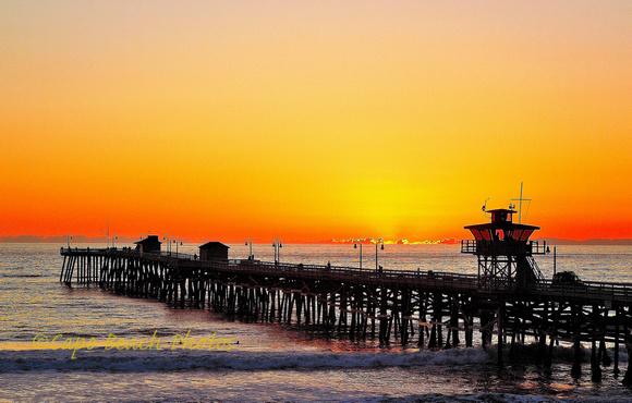 San Clemente Pier Orange